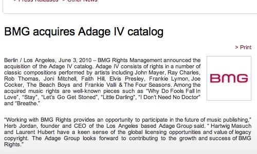 Adage IV BMG